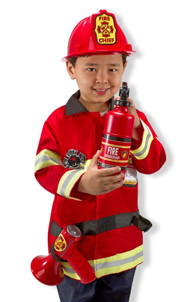 Melissa and Doug Fire Chief Role Play Costume Set - www.kidslovedressup.com