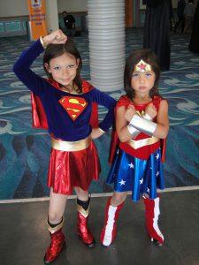 Girls love superhero dress up too!