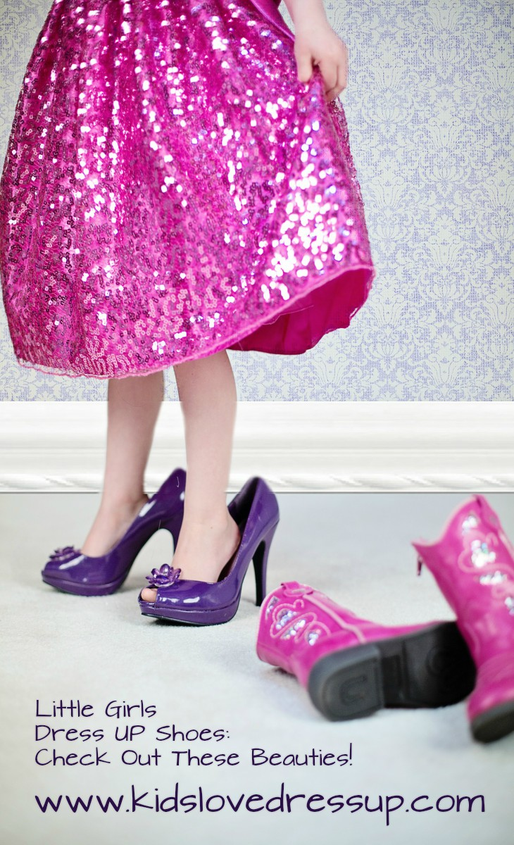 Girls Dress Up Shoes - Every girl needs some pretty princess shoes in her dress up collection! Check out these beauties and find out all about what's available at KidsLoveDressUp.com