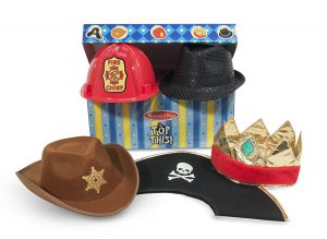 Hats Dress Up Trunk: It's of the best toys for 3 year old boys! Suggested by www.kidslovedressup.com