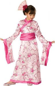 Kimono dress costume for girls