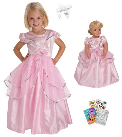 Pink Princess With Doll Outfit
