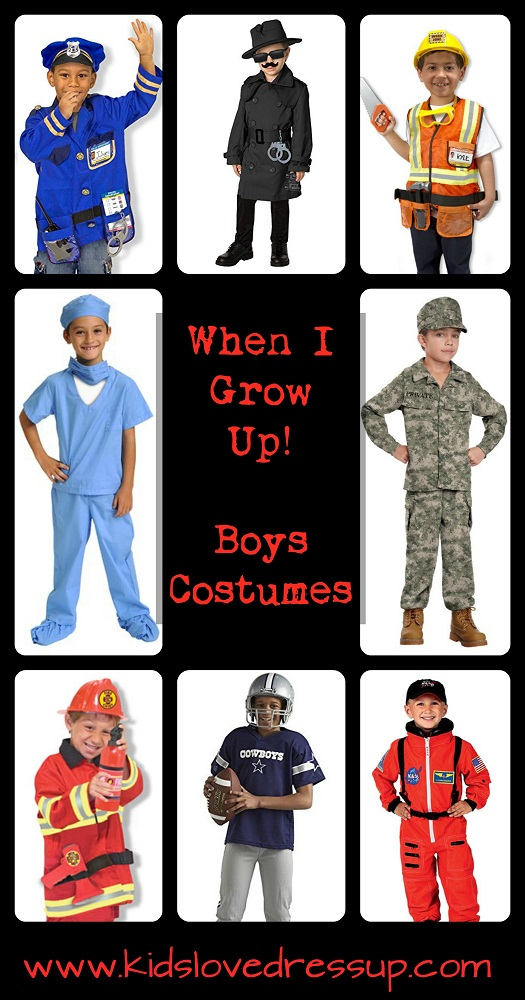 "Boys Costumes: ""When I Grow Up"" Career Costumes Boys Will Be Proud To Wear!   www.kidslovedressup.com  -- Boys Costumes, Career Costumes, Kids Costumes, Boys Dress Up, Boys Halloween"