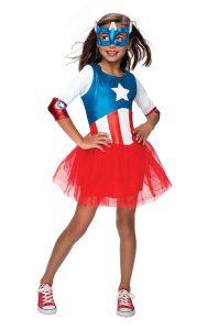 Captain America Costume For Girls - www.kidslovedressup.com