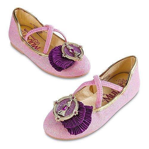 Princess Mulan Flats Dress Up Shoes - www.kidslovedressup.com