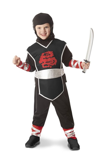 Black and Red Ninja Costume for Boys