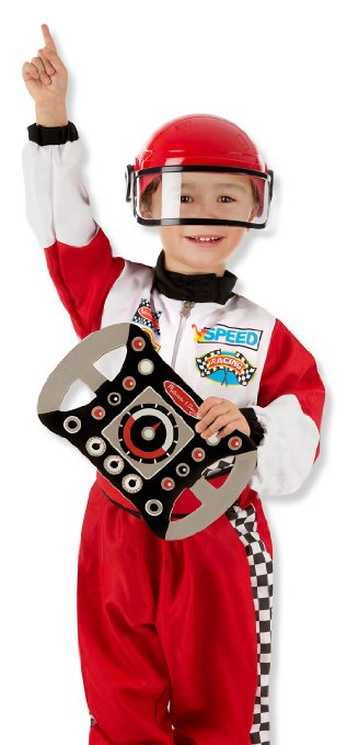 Red Race-Car Driver Costume For Boys