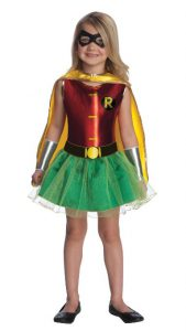 Justice League Robin Tutu Dress for Girls - www.kidslovedressup.com