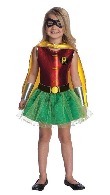Justice League Robin Tutu Dress for Girls - www.kidslovedressup.com