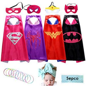 Set of 4 Superhero Costumes for Girls - www.kidslovedressup.com