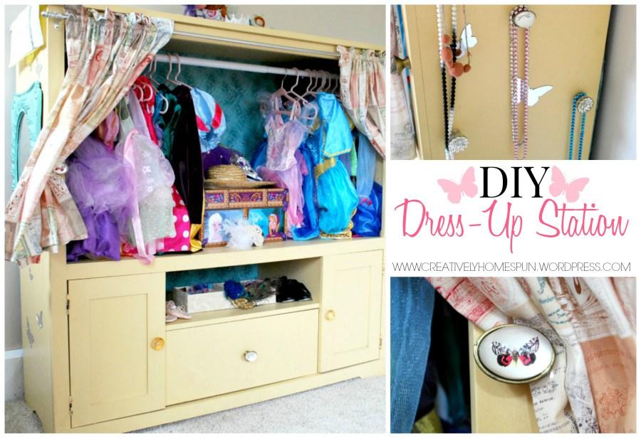 DIY TV Unit into Dress Up Center