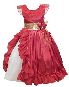 Elena of Avalor inspired little girls costume dress - also good for Christmas and Weddings! Elena of Avalor Costume collection at www.kidslovedressup.com