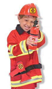 Melissa Doug Fire Chief Role Play Costume Set