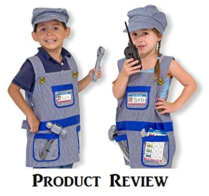 Product Review of the Melissa and Doug Train Engineer Role Play Costume Set - www.kidslovedressup.com