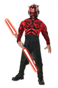 Darth Maul Dress Up Costume For Boys - Star Wars Dress Up For Boys - The Ultimate Costume Collection for the young Star Wars lover in your life! Check out the huge variety of kid sized Star Wars Costumes at www.kidslovedressup.com!