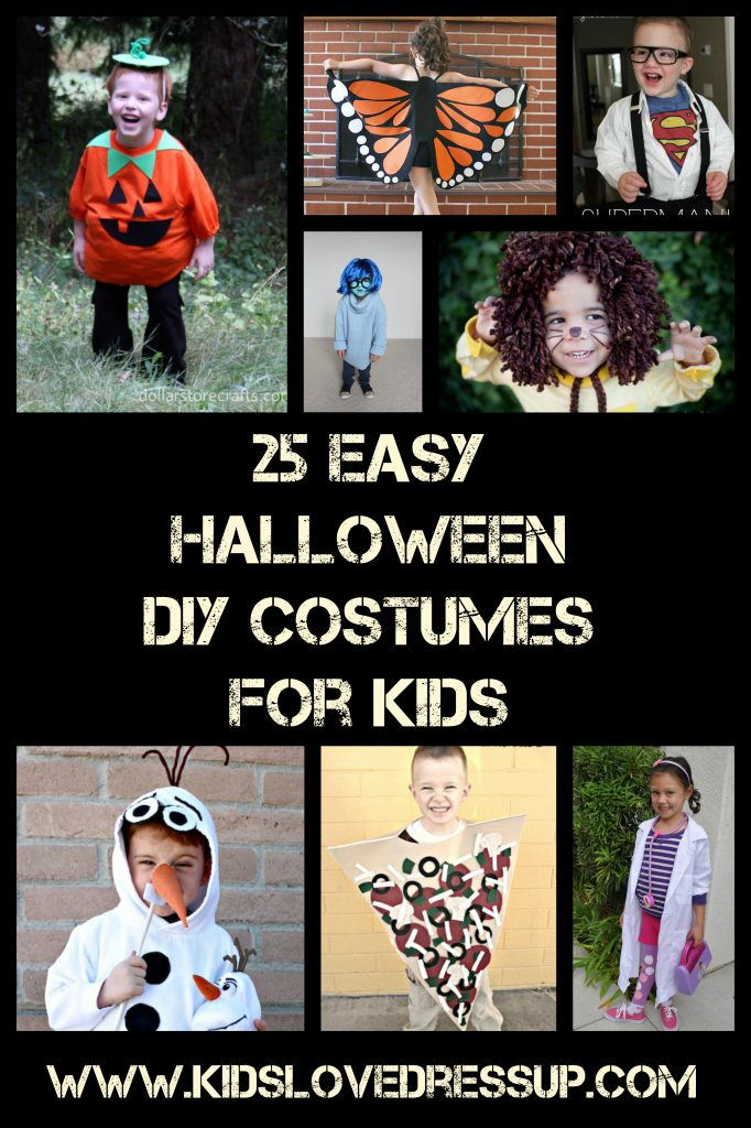 25 Easy And Dramatic Smokey Eye Tutorials This Season: 25 Fun And Easy Halloween DIY Costumes For Kids