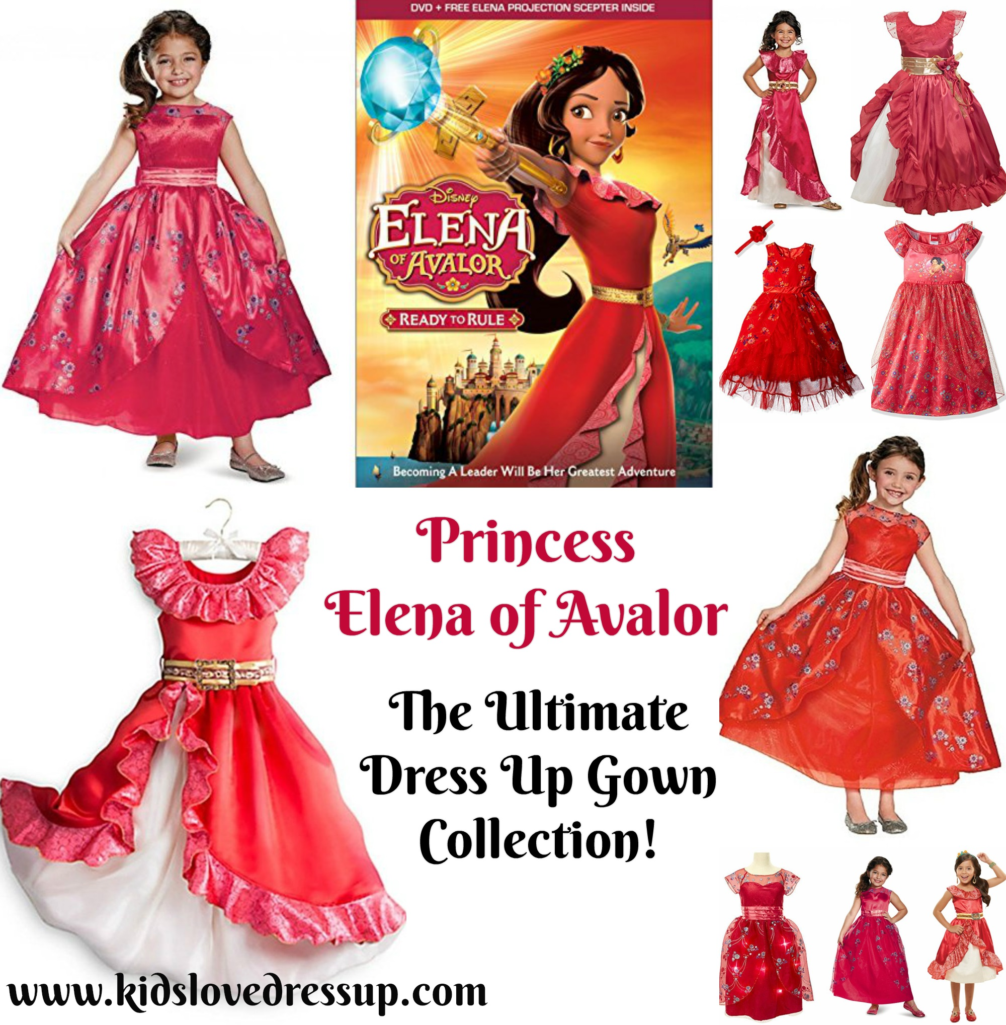 This is the Ultimate Elena of Avalor Costume Collection for little girls who want to dress up like the spunky and beautiful Princess Elena! SO HARD TO PICK JUST ONE! princess elena gowns, princess elena of avalor costumes, dress up elena of avalor, elena of avalor dress up, elena costumes, princess elena of avalor dress up gowns, Disney princess costume, Disney princesses, princess dress up, princess costumes, red princess, Spanish princess