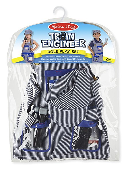 The Melissa and Doug Train Engineer Role Play Costume Set Review - www.kidslovedressup.com