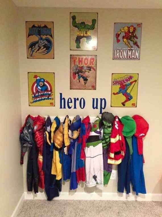 Dress up storage ideas for boys