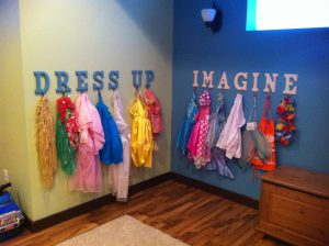 Dress up storage for boys