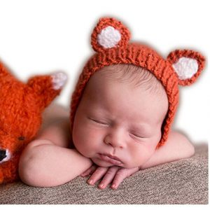 Baby Costume Hats - this little orange fox hat is adorable!
