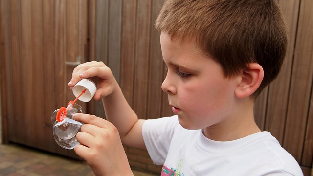 Blowing Bubbles - A great activity for 4 year olds