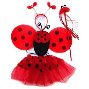 "If your daughter loves the ""Lady Bug Girl"" books, this set is PERFECT for a World Book Day Costume!"