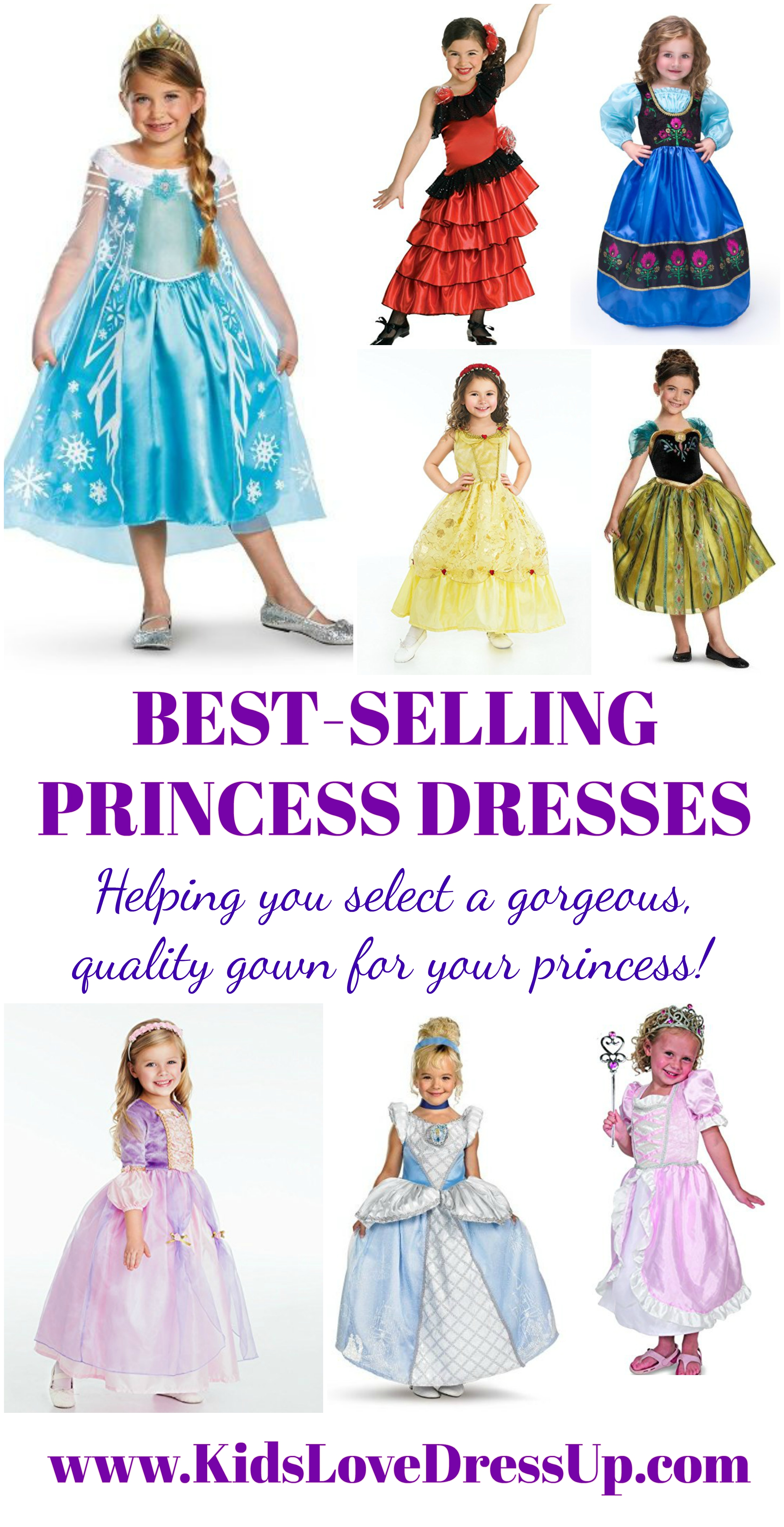 Looking for a gorgeous, great quality princess gown for your princess? Look no further - here are 10 highly rated, heavily reviewed princess gowns that will be well loved by your little girl! Princess gowns, princess costumes, costumes for girls, toddler girls costumes