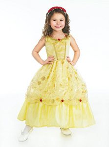 Little Adventures Yellow Princess Dress - www.kidslovedressup.com - The Best Halloween Costumes for Girls for 2017 - see 10 of the most popular girls costumes for Halloween this year! Kids dress up, costumes kids, girls dress up costumes, Halloween costumes