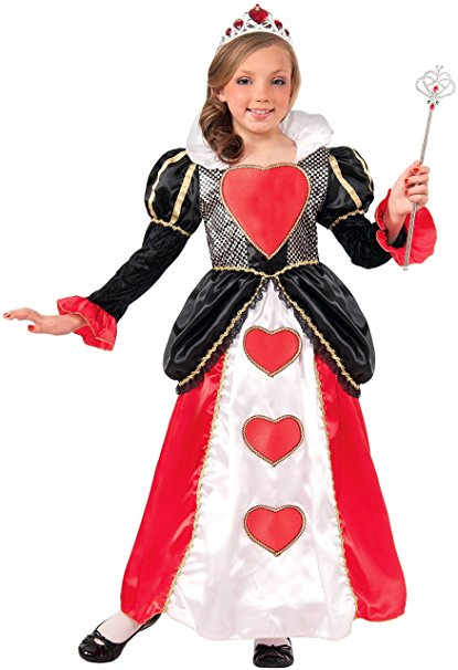 Queen of Hearts Costume For Kids - Book Character Costume Ideas for Girls