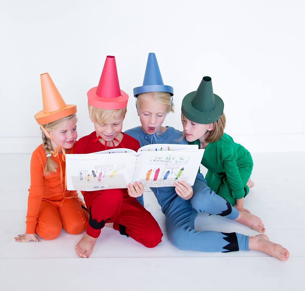 """World Book Day Kids Costumes - lots of ideas including """"The Day The Crayons Quit"""" at www.kidslovedressup.com"""