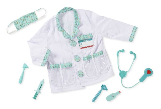What's all included in the Melissa and Doug Doctor Role Play Costume Set - photo part of a review of this item at www.kidslovedressup.com