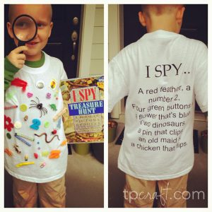 I Spy Costume for World Book Day Kids Dress Up!