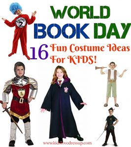 Collection of 16 World Book Day Kids Costumes at www.kidslovedressup.com