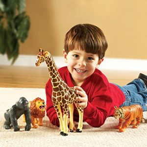 2 year old boys love to play with plastic animals! Gifts for 2 year old boys - this is a good idea!!