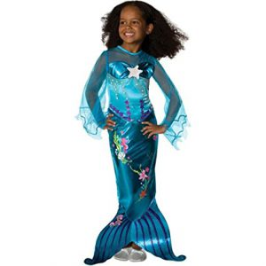 Magical Mermaid Costume for Girls - not your typical Ariel mermaid outfit! Lovely royal blue sea princess!
