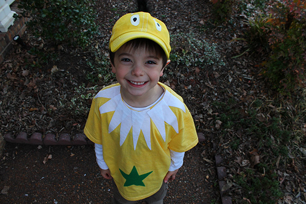 Dr. Seuss Costumes Ideas For Kids: Star Bellied Sneetch Costume!
