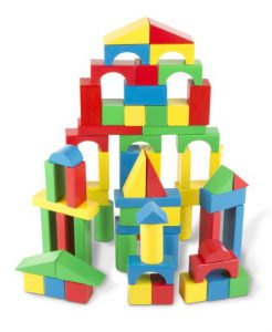 Wooden Blocks are tons of fun for kids of all ages! Fun gifts for 2 year old boys!