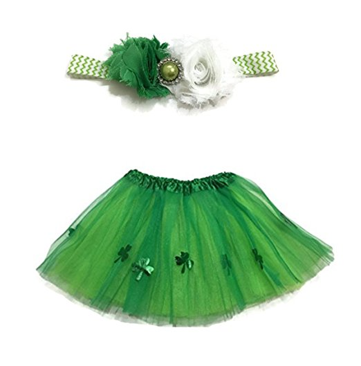 St. Patrick's Day Costumes For Kids - Ballerina Tutu with Shamrocks!