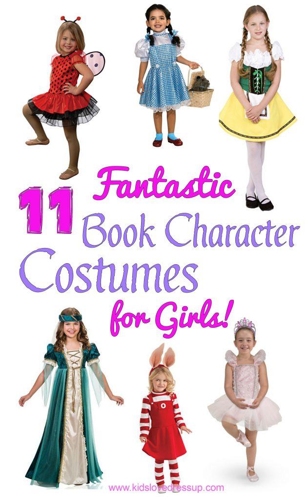 11 Fantastic Book Character Costumes For Girls! Kidslovedressup.com!