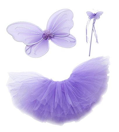 Great gifts for 3 year old girls! This Purple Fairy Princess Set is Perfect!