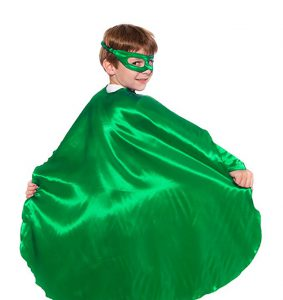 Green Superhero Cape - perfect for use in a St. Patrick's Day Kids Costume... why not? It's the right green!