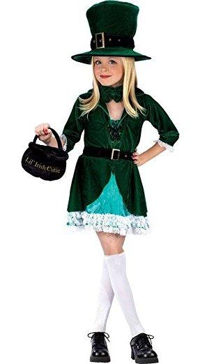 St. Patrick's Day Costumes For Kids - Lucky Leprechaun Costume for Girls