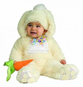 Vanilla colored Easter bunny costume for baby!