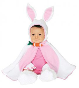 Adorable Easter Bunny Cape and Costume for Baby Girl!