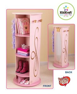 KidKraft Princess Dress Up Storage Carousel / KidKraft Princess Swivel Vanity - Top 12 Kids Dress Up Storage Centers