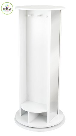 KidKraft Swivel Vanity White - KidKraft Dress Up Carousel White - Top 12 Kids Dress Up Storage Units