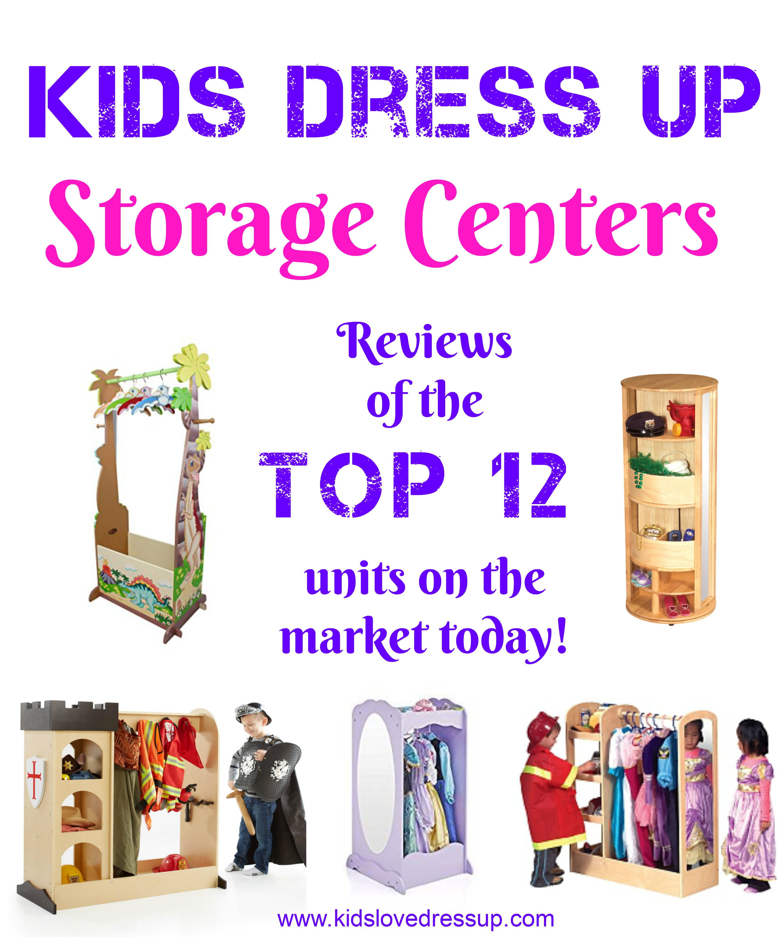 Top 12 Kids Dress Up Storage Centers
