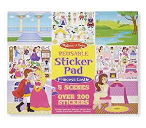 Best Toys For 3 Year Old Girls on Kidslovedressup.com - Melissa and Doug Reusable Sticker Pad - Princess Scenes