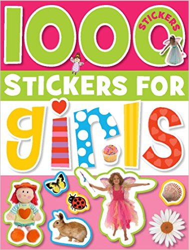 1000 Stickers For Girls - Sticker Activity Book - Best Toys For 3 Year Old Girls